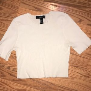 Rubbed white crop top